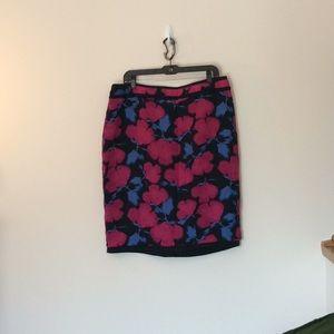 Banana republic floral pencil skirt